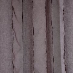 Nowoczesna firana w kolorze kawowym 140x250 przelotki - 140 X 250 cm - brązowy 4
