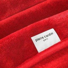 Karminowy EKSKLUZYWNY KOC Clara od PIERRE CARDIN 220x240 cm z akrylem - 220 X 240 cm - czerwony 3