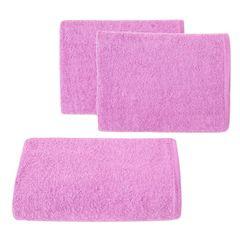 Ręcznik z bawełny gładki 70x140cm - 70 X 140 cm - różowy 1