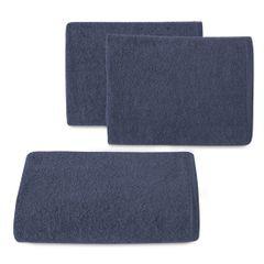 Ręcznik z bawełny gładki 70x140cm - 70 X 140 cm - granatowy 1