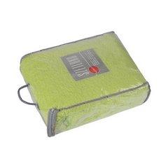 Koc miękki pled z frędzlami jednokolorowy zielony 170x210cm - 170x210 - zielony 2