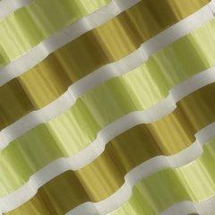 Zasłona poziome atłasowe pasy+organza odcienie zieleni przelotki 140x250cm - 140x250 - zielony 1