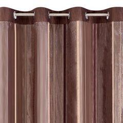 Oryginalna brązowa dwuwarstwowa zasłona na przelotkach - 140 X 250 cm - czekoladowy 3