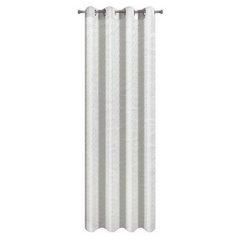 Zasłona z tkaniny o lekko pomarszczonej fakturze bez prasowania biała przelotki 140x250cm - 140 X 250 cm - biały 5
