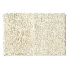 Biały dywan shaggy łazienkowy 60x90 cm - 60 x 90 cm - biały 2