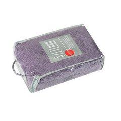 Koc miękki pled z frędzlami na fotel jednokolorowy fioletowy 70x150cm - 70x150 - fioletowy 2