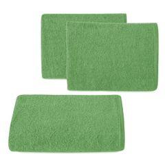 Ręcznik z bawełny gładki zielony 50x90cm - 50 X 90 cm - butelkowy zielony 1