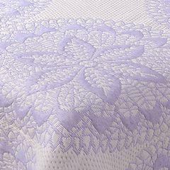 Narzuta dwustronna okrągły ornamentowy wzór 80%bawełna 220x240cm - 220 X 240 cm - biały/fioletowy 8