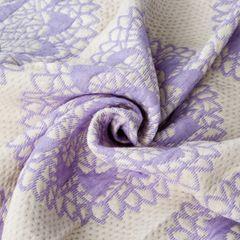 Narzuta dwustronna okrągły ornamentowy wzór 80%bawełna 220x240cm - 220 X 240 cm - biały/fioletowy 10