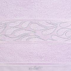 Ręcznik ozdobna bordiura wrzosowy 70x140cm - 70 X 140 cm - liliowy 8
