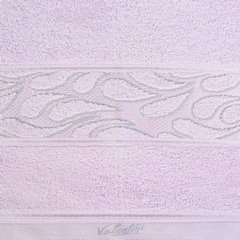 Ręcznik ozdobna bordiura wrzosowy 70x140cm - 70 X 140 cm - liliowy 3