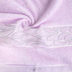 Ręcznik ozdobna bordiura wrzosowy 70x140cm - 70 X 140 cm - liliowy 10