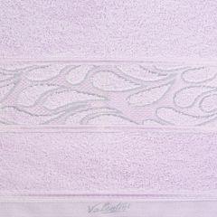 Ręcznik ozdobna bordiura wrzosowy 70x140cm - 70 X 140 cm - liliowy 4