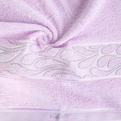 Ręcznik ozdobna bordiura wrzosowy 70x140cm - 70 X 140 cm - liliowy 1