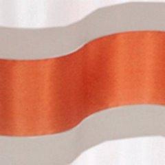 Zasłona Poziome Atłasowe Pasy Organza Kremowy Cegalsty Przelotki 140X250Cm - 140x250 - ceglany 1