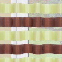 Zasłona Poziome Atłasowe Pasy Organza Zielony Brązowy Przelotki 140X250Cm - 140x250 - zielony 1