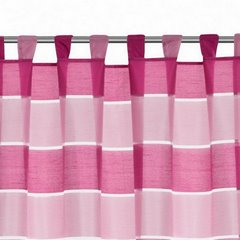 Zasłona poziome pasy atłas różowa 140x250cm - 140x250 - różowy 5