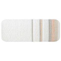 Ręcznik z bawełny z ozdobnym stebnowaniem 50x90cm - 50 X 90 cm - kremowy 2