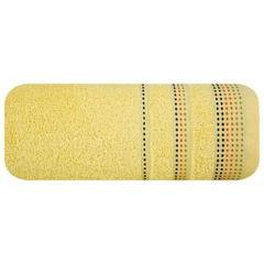 Ręcznik z bawełny z ozdobnym stebnowaniem 70x140cm - 70 X 140 cm - żółty 2