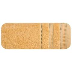 Morelowy ręcznik kąpielowy z dekoracyjnym stebnowaniem 30x50cm - 30 X 50 cm - pomarańczowy 2