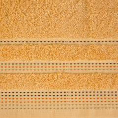 Morelowy ręcznik kąpielowy z dekoracyjnym stebnowaniem 30x50cm - 30 X 50 cm - pomarańczowy 4