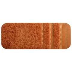 Ręcznik z bawełny z ozdobnym stebnowaniem 30x50cm - 30 X 50 cm - pomarańczowy 2