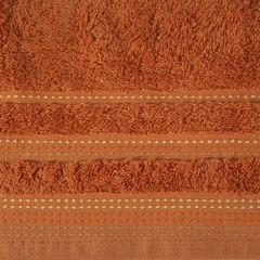 Ręcznik z bawełny z ozdobnym stebnowaniem 50x90cm - 50 X 90 cm - pomarańczowy 4