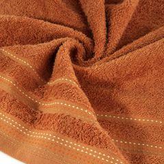 Ręcznik z bawełny z ozdobnym stebnowaniem 50x90cm - 50 X 90 cm - pomarańczowy 5