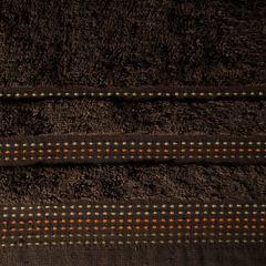 Ręcznik z bawełny z ozdobnym stebnowaniem 50x90cm - 50 X 90 cm - brązowy 4