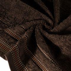 Ręcznik z bawełny z ozdobnym stebnowaniem 50x90cm - 50 X 90 cm - brązowy 5