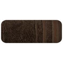 Ręcznik z bawełny z ozdobnym stebnowaniem 70x140cm - 70 X 140 cm - brązowy 2
