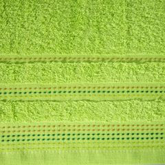 Ręcznik z bawełny z ozdobnym stebnowaniem 30x50cm - 30 X 50 cm - zielony 4