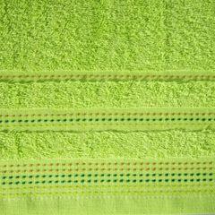 Ręcznik z bawełny z ozdobnym stebnowaniem 50x90cm - 50 X 90 cm - zielony 4