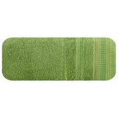 Ręcznik z bawełny z ozdobnym stebnowaniem 50x90cm - 50 X 90 cm - zielony 2