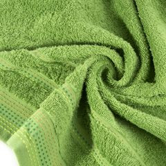 Ręcznik z bawełny z ozdobnym stebnowaniem 50x90cm - 50 X 90 cm - zielony 5