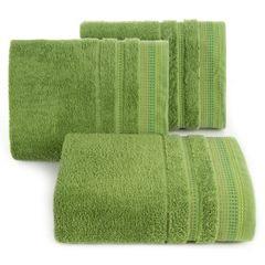 Ręcznik z bawełny z ozdobnym stebnowaniem 70x140cm - 70 X 140 cm - zielony 1