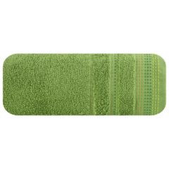 Ręcznik z bawełny z ozdobnym stebnowaniem 70x140cm - 70 X 140 cm - zielony 2