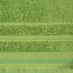 Ręcznik z bawełny z ozdobnym stebnowaniem 70x140cm - 70 X 140 cm - zielony 4