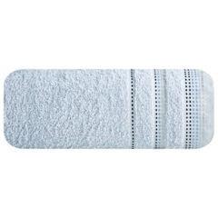 Ręcznik z bawełny z ozdobnym stebnowaniem 50x90cm - 50 X 90 cm - niebieski 2