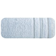 Ręcznik z bawełny z ozdobnym stebnowaniem 70x140cm - 70 X 140 cm - niebieski 2