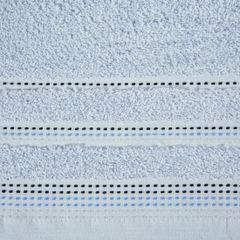 Ręcznik z bawełny z ozdobnym stebnowaniem 70x140cm - 70 X 140 cm - niebieski 4