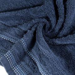 Ręcznik z bawełny z ozdobnym stebnowaniem 30x50cm - 30 X 50 cm - granatowy 1