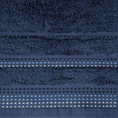 Ręcznik z bawełny z ozdobnym stebnowaniem 50x90cm - 50 X 90 cm - granatowy 4