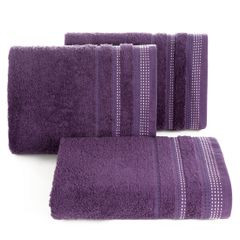 Ręcznik z bawełny z ozdobnym stebnowaniem 30x50cm - 30 X 50 cm - fioletowy 1