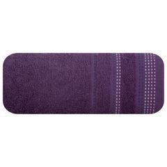 Ręcznik z bawełny z ozdobnym stebnowaniem 50x90cm - 50 X 90 cm - fioletowy 2