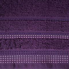 Ręcznik z bawełny z ozdobnym stebnowaniem 50x90cm - 50 X 90 cm - fioletowy 4
