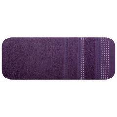 Ręcznik z bawełny z ozdobnym stebnowaniem 70x140cm - 70 X 140 cm - fioletowy 2