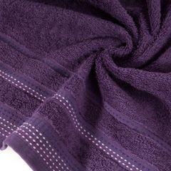 Ręcznik z bawełny z ozdobnym stebnowaniem 70x140cm - 70x140 - śliwkowy 1