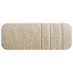 Ręcznik z bawełny z ozdobnym stebnowaniem 50x90cm - 50 X 90 cm - beżowy 2