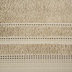 Ręcznik z bawełny z ozdobnym stebnowaniem 50x90cm - 50 X 90 cm - beżowy 4